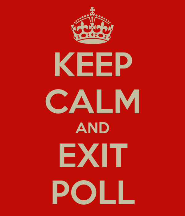 KEEP CALM AND EXIT POLL