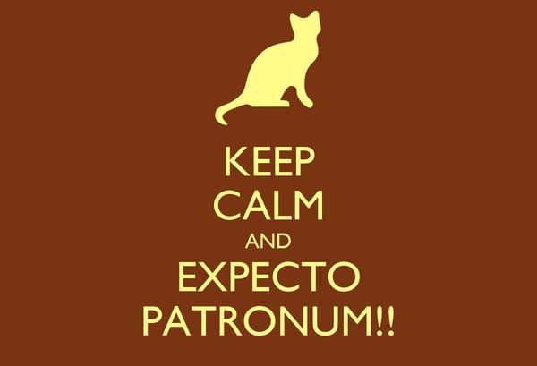 KEEP CALM AND EXPECTO PATRONUM!!