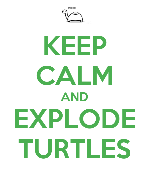 KEEP CALM AND EXPLODE TURTLES