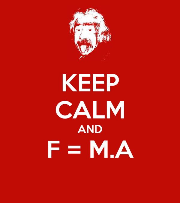KEEP CALM AND F = M.A