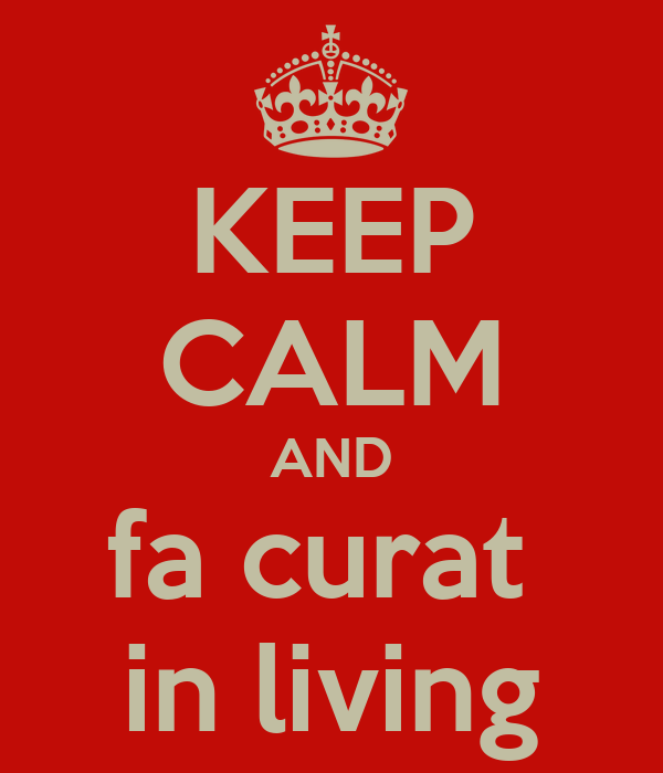 KEEP CALM AND fa curat  in living
