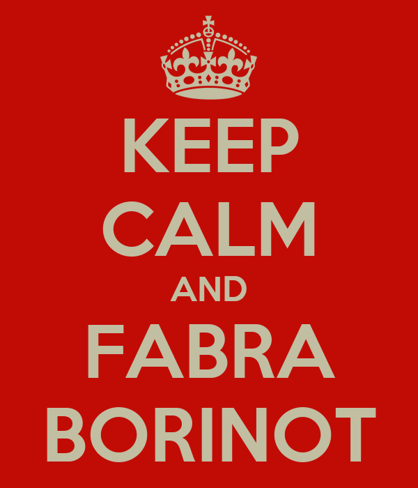 KEEP CALM AND FABRA BORINOT