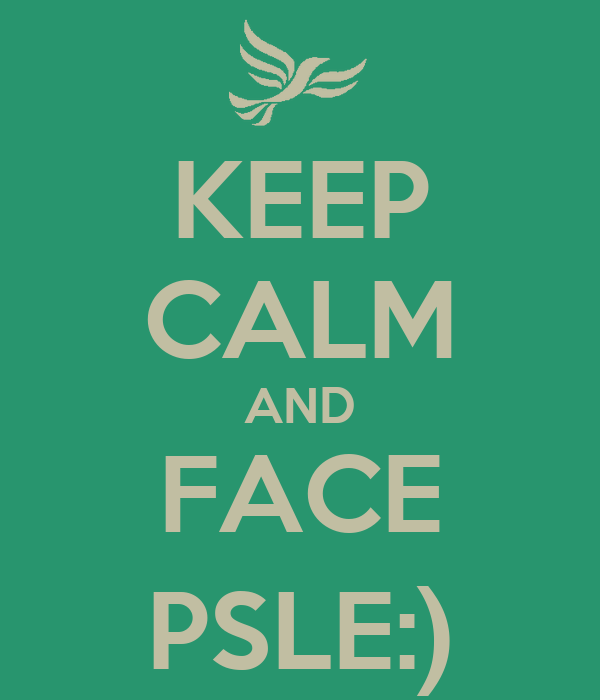 KEEP CALM AND FACE PSLE:)
