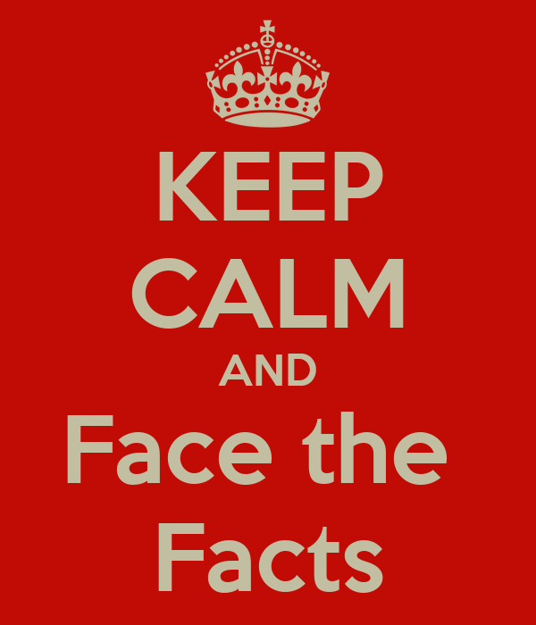 KEEP CALM AND Face the  Facts