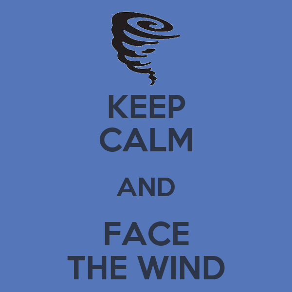 KEEP CALM AND FACE THE WIND