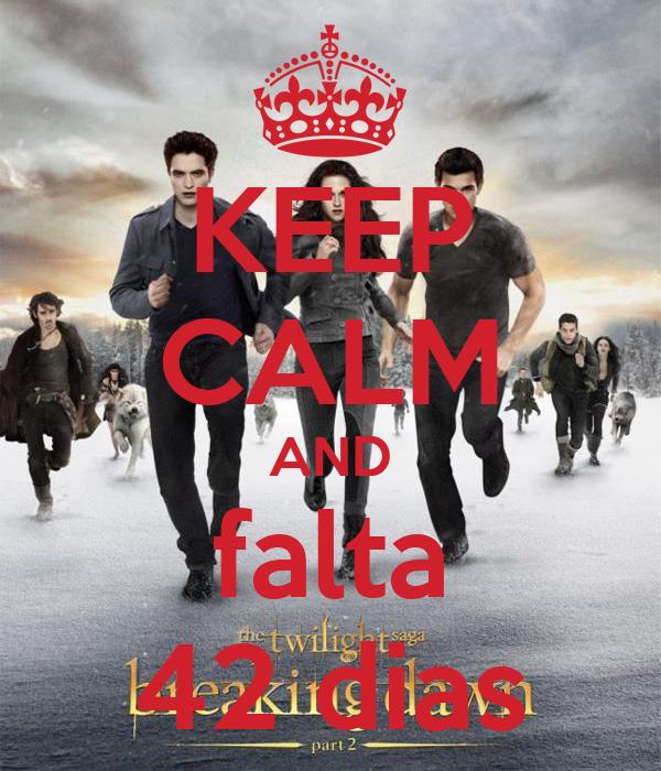 KEEP CALM AND falta 42 dias