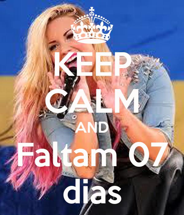 KEEP CALM AND Faltam 07 dias