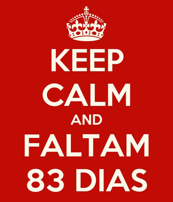 KEEP CALM AND FALTAM 83 DIAS