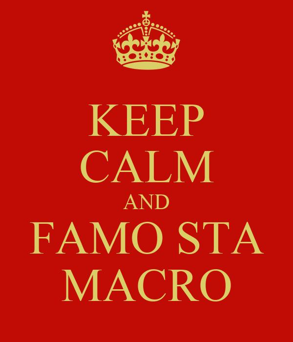 KEEP CALM AND FAMO STA MACRO