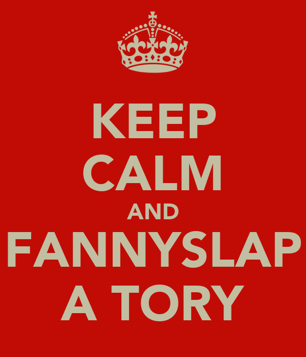 KEEP CALM AND FANNYSLAP A TORY