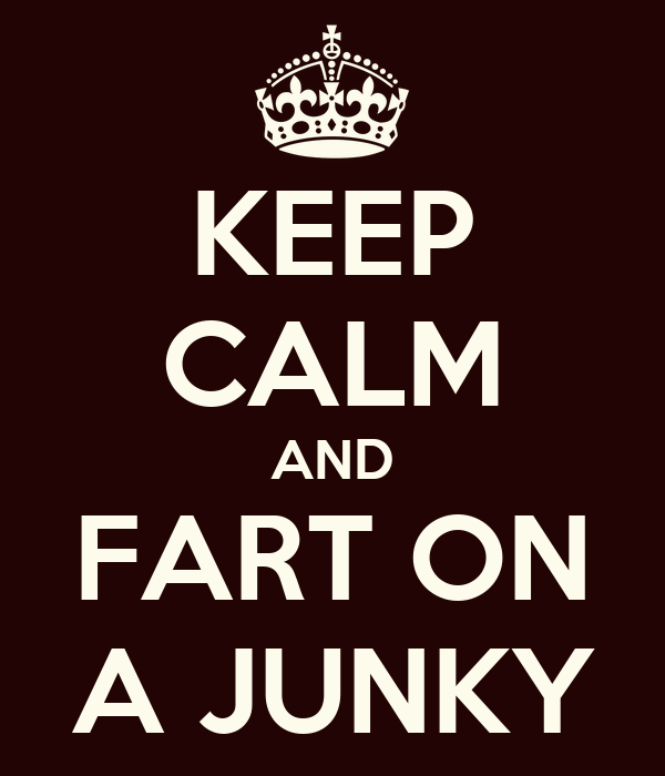 KEEP CALM AND FART ON A JUNKY
