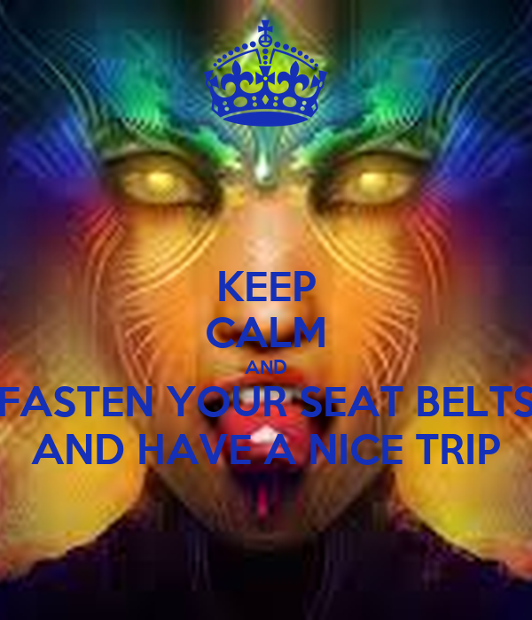 KEEP CALM AND FASTEN YOUR SEAT BELTS AND HAVE A NICE TRIP