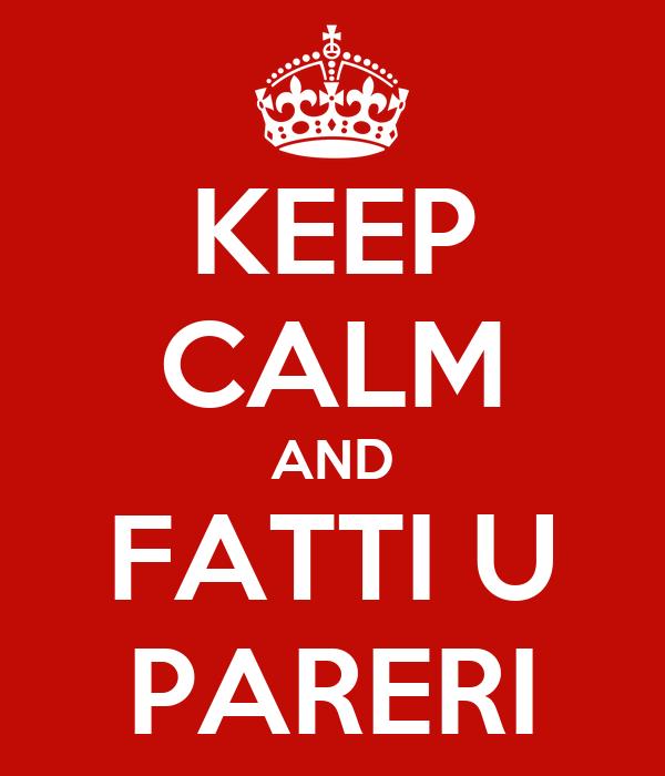KEEP CALM AND FATTI U PARERI