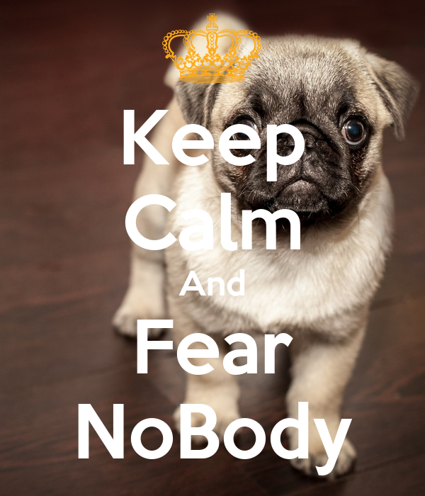 Keep Calm And Fear NoBody