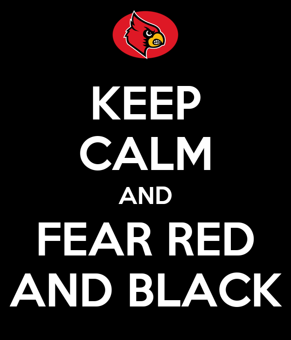 KEEP CALM AND FEAR RED AND BLACK