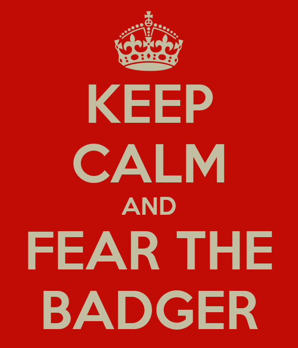 KEEP CALM AND FEAR THE BADGER