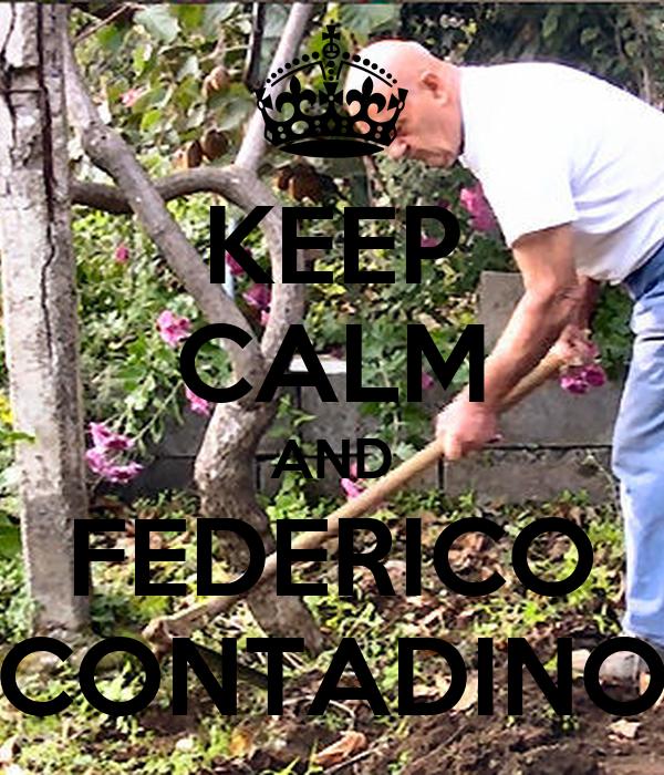KEEP CALM AND FEDERICO CONTADINO