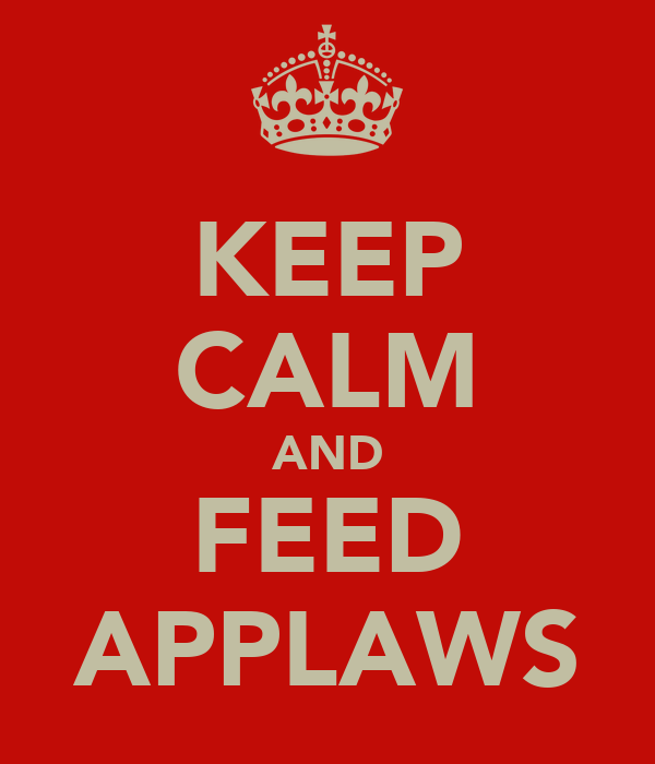 KEEP CALM AND FEED APPLAWS