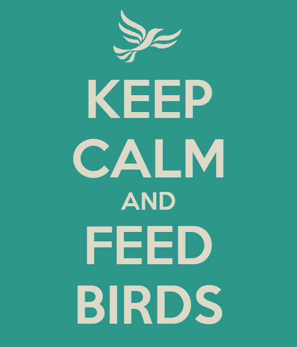 KEEP CALM AND FEED BIRDS