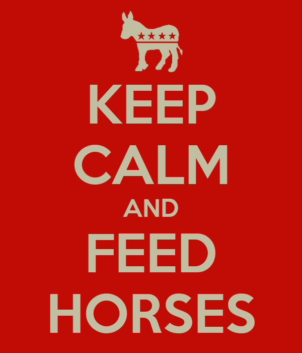 KEEP CALM AND FEED HORSES