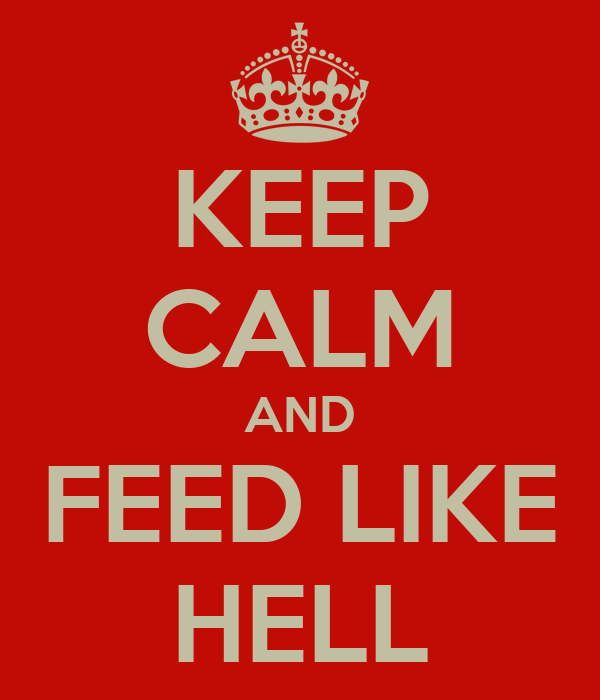 KEEP CALM AND FEED LIKE HELL