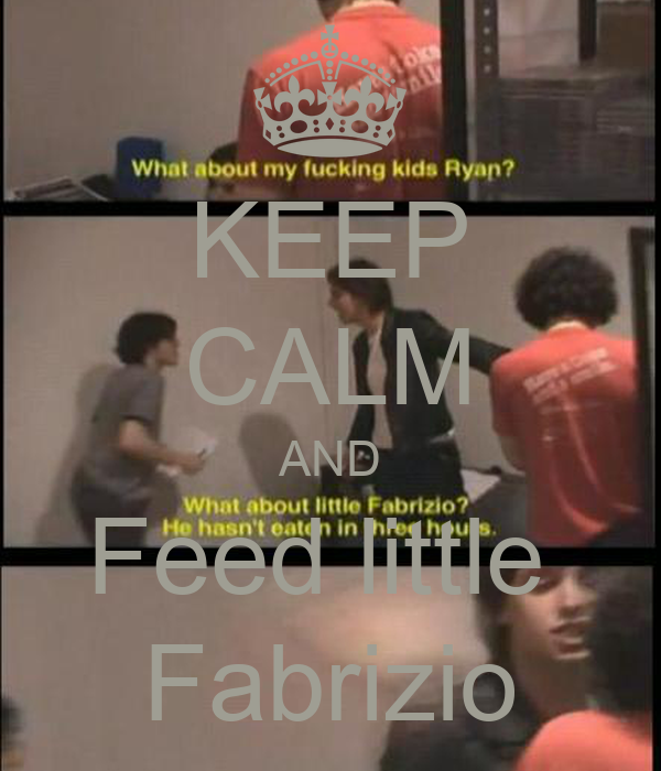 KEEP CALM AND Feed little  Fabrizio