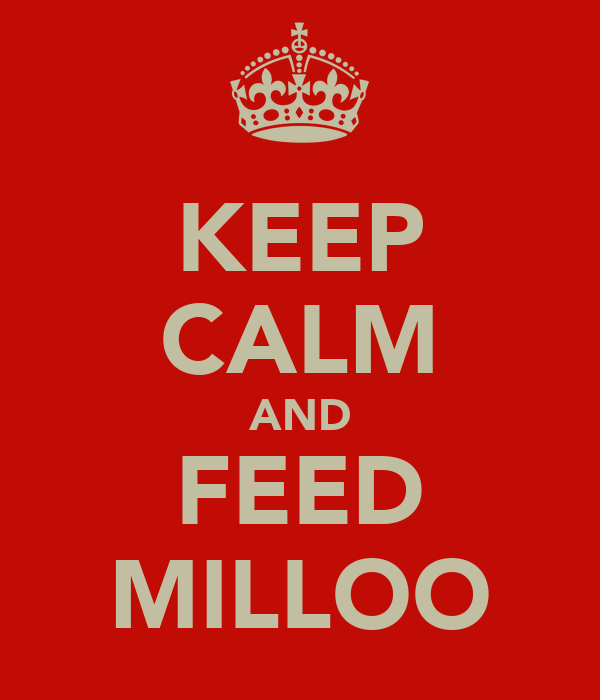 KEEP CALM AND FEED MILLOO
