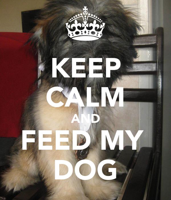 KEEP CALM AND FEED MY  DOG