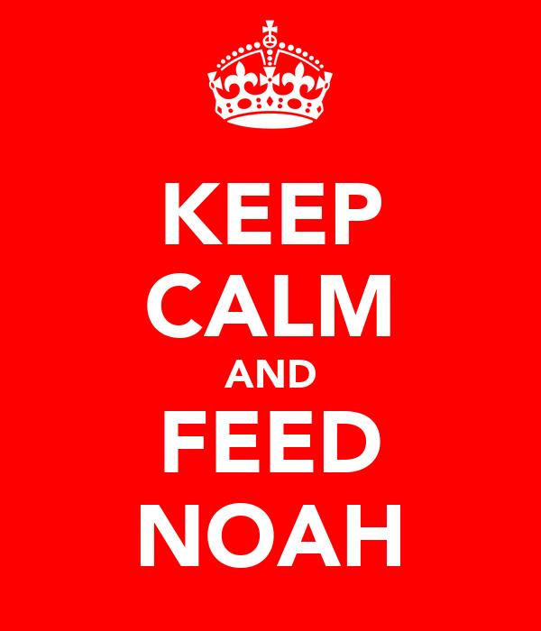 KEEP CALM AND FEED NOAH