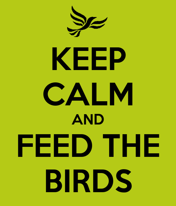 KEEP CALM AND FEED THE BIRDS