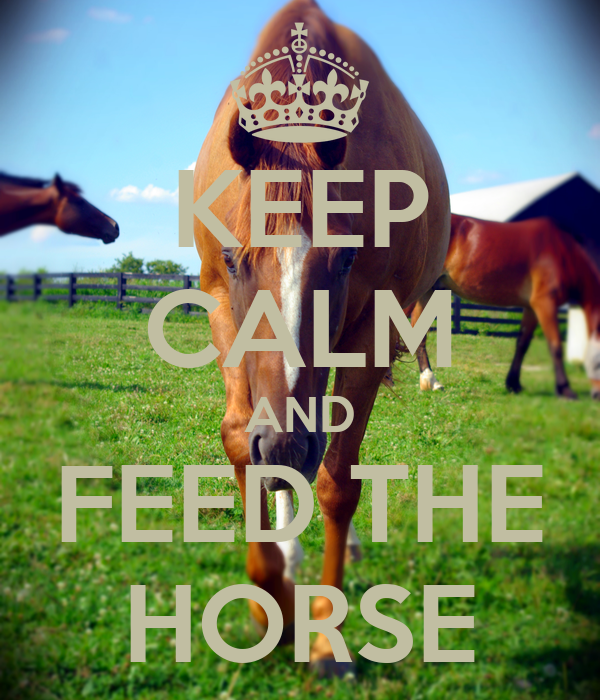 KEEP CALM AND FEED THE HORSE