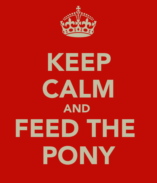 KEEP CALM AND  FEED THE  PONY