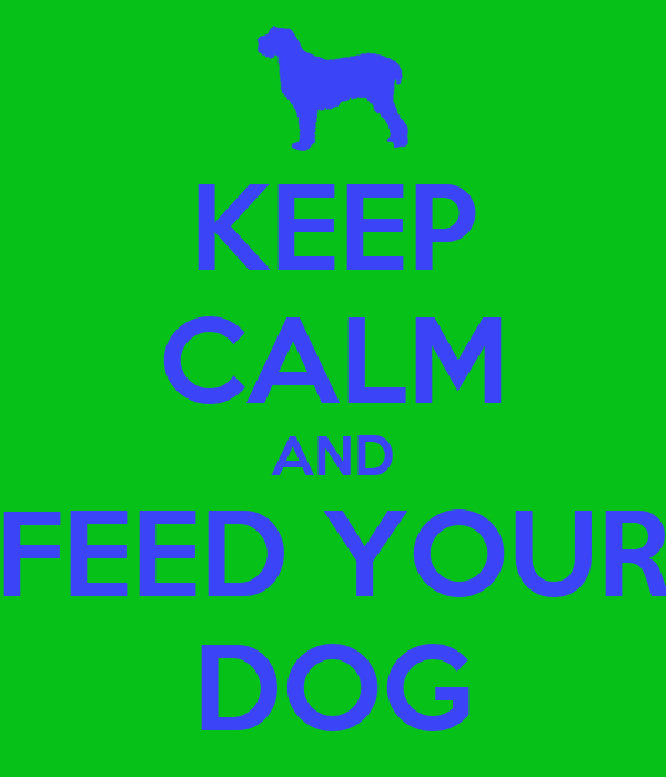 KEEP CALM AND FEED YOUR DOG