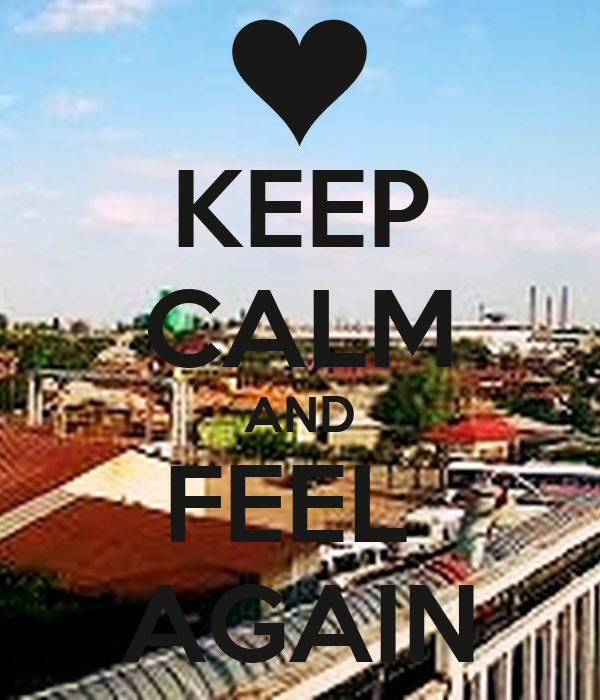 KEEP CALM AND FEEL  AGAIN
