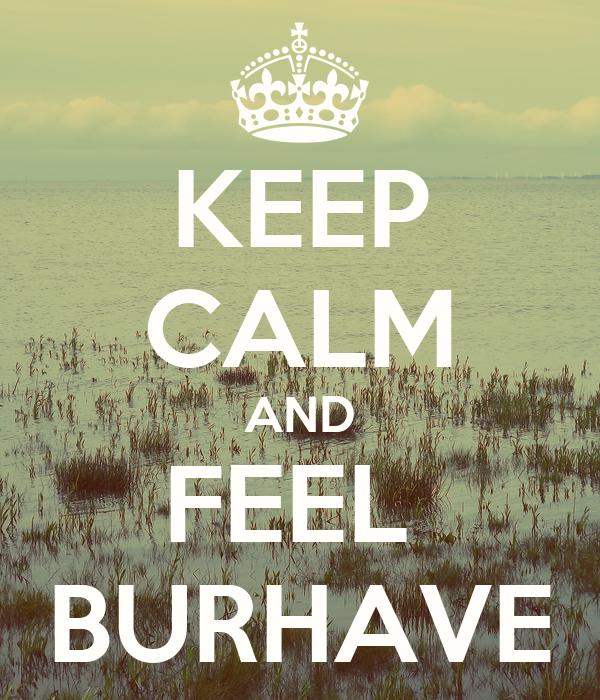 KEEP CALM AND FEEL  BURHAVE