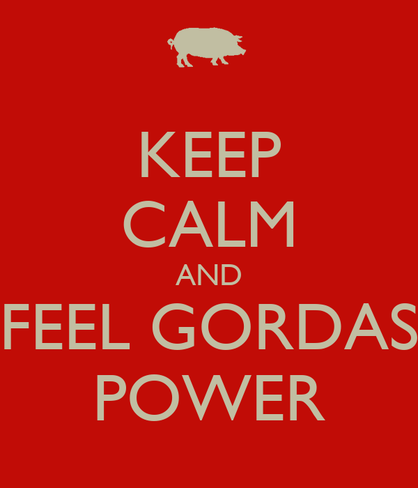 KEEP CALM AND FEEL GORDAS POWER