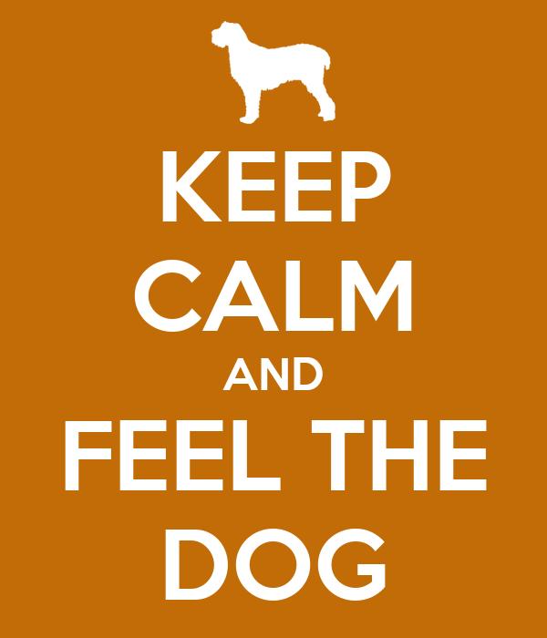 KEEP CALM AND FEEL THE DOG