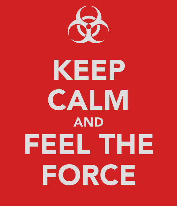KEEP CALM AND FEEL THE FORCE