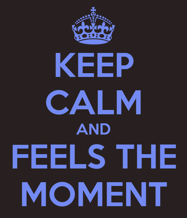 KEEP CALM AND FEELS THE MOMENT
