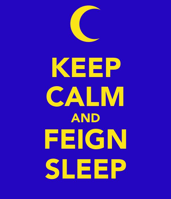 KEEP CALM AND FEIGN SLEEP