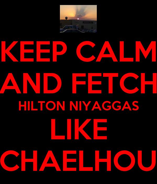 KEEP CALM AND FETCH HILTON NIYAGGAS LIKE MICHAELHOUSE
