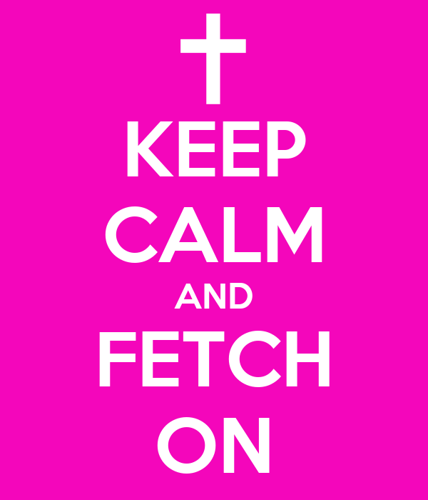 KEEP CALM AND FETCH ON