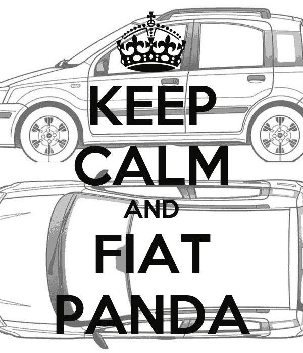 Keep Calm And Fiat Panda Poster