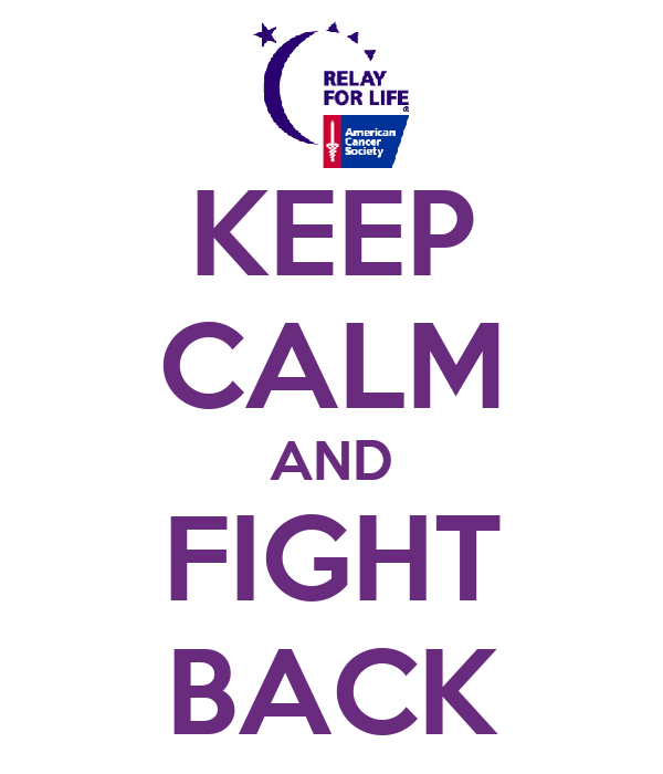 KEEP CALM AND FIGHT BACK