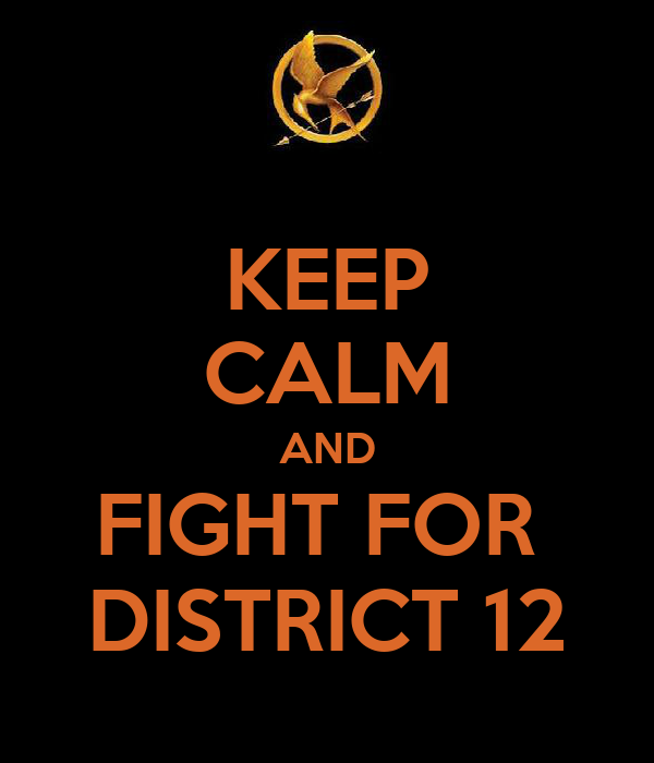 KEEP CALM AND FIGHT FOR  DISTRICT 12
