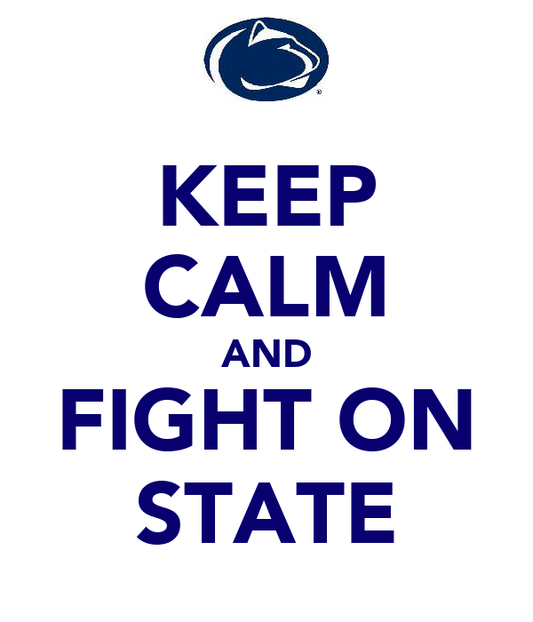 KEEP CALM AND FIGHT ON STATE