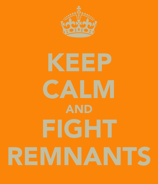 KEEP CALM AND FIGHT REMNANTS