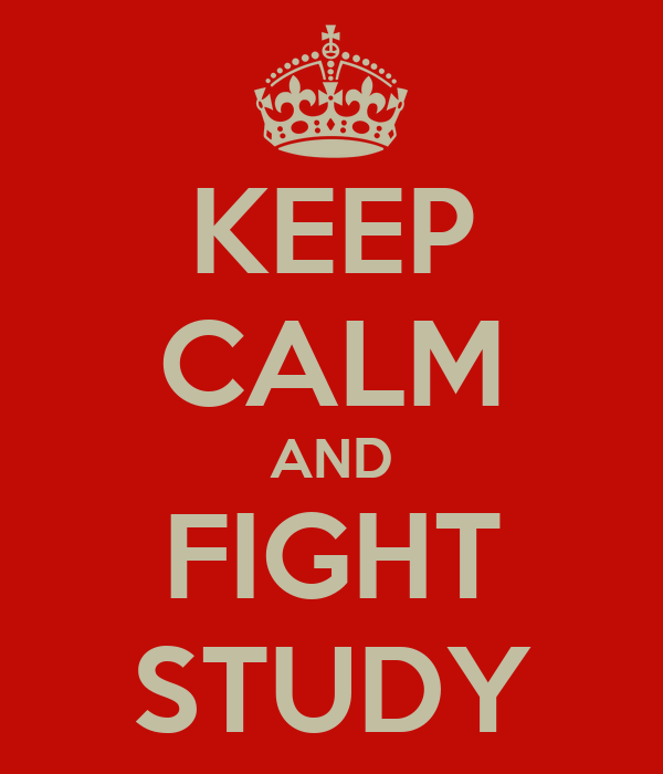 KEEP CALM AND FIGHT STUDY