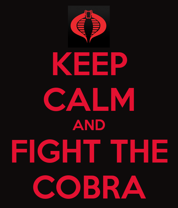 KEEP CALM AND FIGHT THE COBRA