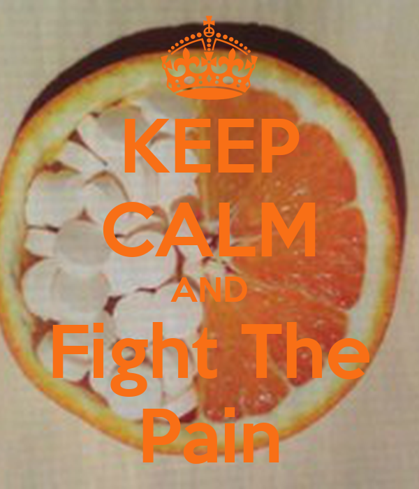 KEEP CALM AND Fight The Pain